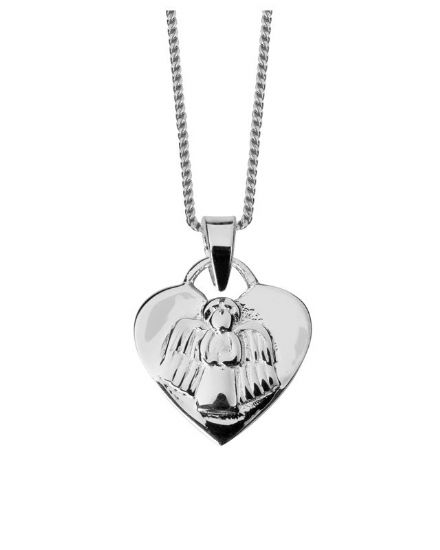 Sterling Silver Guardian Angel Pendant with chain.